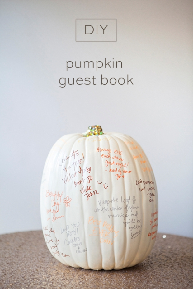 SomethingTurquoise-DIY-Pumpkin-Guest-Book-0001